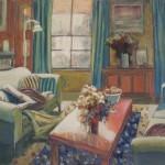 Interior with sleeping figure